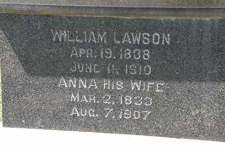 LAWSON, ANNA - Lorain County, Ohio | ANNA LAWSON - Ohio Gravestone Photos