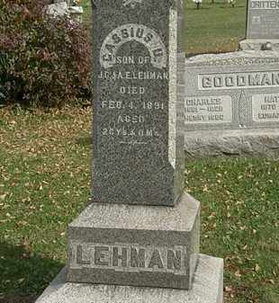 LEHMAN, J. C. - Lorain County, Ohio | J. C. LEHMAN - Ohio Gravestone Photos