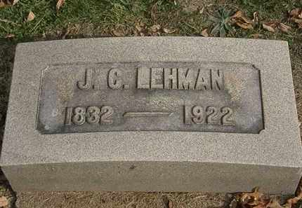 LEHMAN, J.C. - Lorain County, Ohio | J.C. LEHMAN - Ohio Gravestone Photos