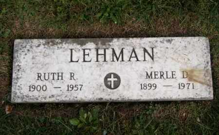 LEHMAN, RUTH R. - Lorain County, Ohio | RUTH R. LEHMAN - Ohio Gravestone Photos