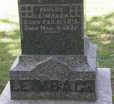 LEIMBACH, PAULUS - Lorain County, Ohio | PAULUS LEIMBACH - Ohio Gravestone Photos