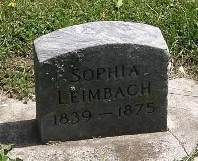 LEIMBACH, SOPHIA - Lorain County, Ohio | SOPHIA LEIMBACH - Ohio Gravestone Photos