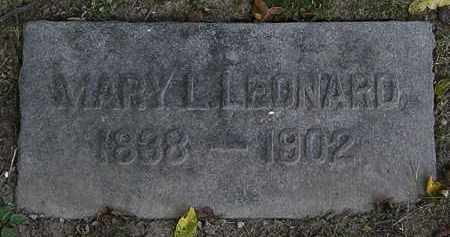 LEONARD, MARY L. - Lorain County, Ohio | MARY L. LEONARD - Ohio Gravestone Photos