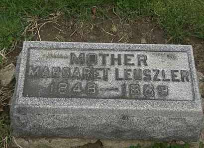 LEUSZLER, MARGARET - Lorain County, Ohio | MARGARET LEUSZLER - Ohio Gravestone Photos