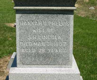 LINCOLN, HANNAH U. - Lorain County, Ohio | HANNAH U. LINCOLN - Ohio Gravestone Photos