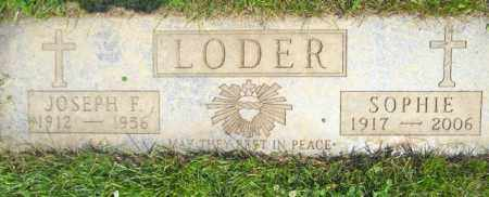 LODER, SOPHIE - Lorain County, Ohio | SOPHIE LODER - Ohio Gravestone Photos