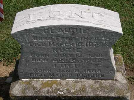 LONG, CLAUDIE - Lorain County, Ohio | CLAUDIE LONG - Ohio Gravestone Photos