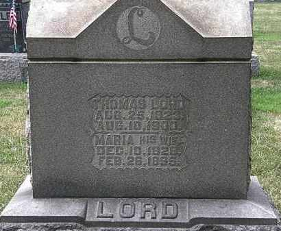 LORD, MARIA - Lorain County, Ohio | MARIA LORD - Ohio Gravestone Photos