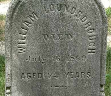 LOUNDSDROUGH, WILLIAM - Lorain County, Ohio | WILLIAM LOUNDSDROUGH - Ohio Gravestone Photos