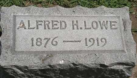 LOWE, ALFRED H. - Lorain County, Ohio | ALFRED H. LOWE - Ohio Gravestone Photos