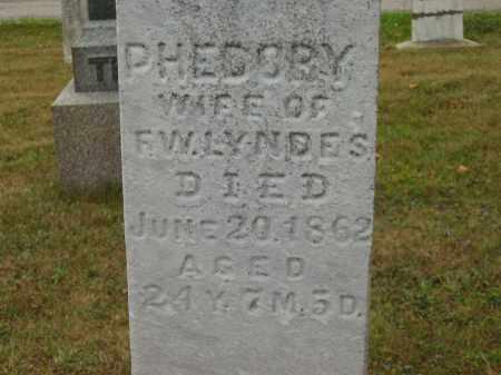 LYNDES, PHEDORY - Lorain County, Ohio | PHEDORY LYNDES - Ohio Gravestone Photos