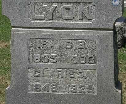 LYON, ISAAC B. - Lorain County, Ohio | ISAAC B. LYON - Ohio Gravestone Photos