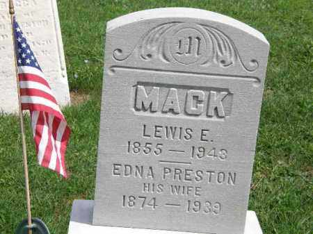 MACK, LEWIS E. - Lorain County, Ohio | LEWIS E. MACK - Ohio Gravestone Photos