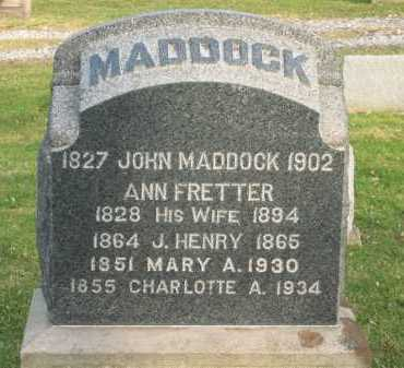 MADDOCK, JOHN - Lorain County, Ohio | JOHN MADDOCK - Ohio Gravestone Photos