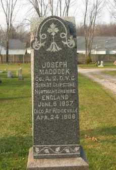 MADDOCK, JOSEPH - Lorain County, Ohio | JOSEPH MADDOCK - Ohio Gravestone Photos