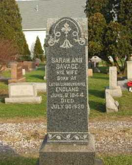 SAVAGE MADDOCK, SARAH ANN - Lorain County, Ohio | SARAH ANN SAVAGE MADDOCK - Ohio Gravestone Photos