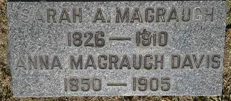 MAGRAUGH, SARAH A. - Lorain County, Ohio | SARAH A. MAGRAUGH - Ohio Gravestone Photos