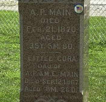 MAIN, A.P. - Lorain County, Ohio | A.P. MAIN - Ohio Gravestone Photos