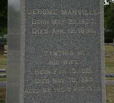 MANVILLE, CYNTHIA M. - Lorain County, Ohio | CYNTHIA M. MANVILLE - Ohio Gravestone Photos