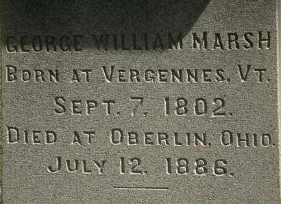 MARSH, GEORGE WILLIAM - Lorain County, Ohio | GEORGE WILLIAM MARSH - Ohio Gravestone Photos