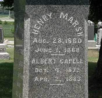 MARSH, ALBERT CAPELL - Lorain County, Ohio | ALBERT CAPELL MARSH - Ohio Gravestone Photos