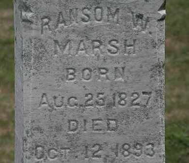 MARSH, RANSOM W. - Lorain County, Ohio | RANSOM W. MARSH - Ohio Gravestone Photos