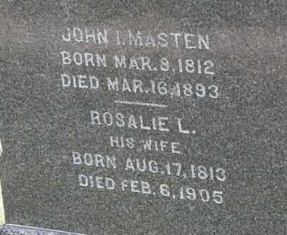 MASTEN, JOHN I. - Lorain County, Ohio | JOHN I. MASTEN - Ohio Gravestone Photos