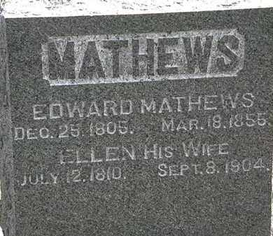 MATHEWS, EDWARD - Lorain County, Ohio | EDWARD MATHEWS - Ohio Gravestone Photos