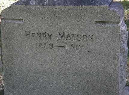 MATSON, HENRY - Lorain County, Ohio | HENRY MATSON - Ohio Gravestone Photos