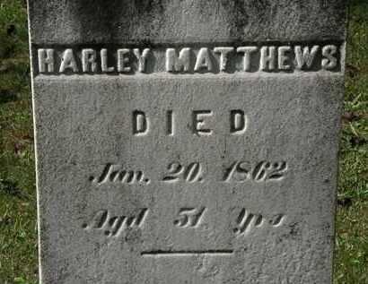 MATTHEWS, HARLEY - Lorain County, Ohio | HARLEY MATTHEWS - Ohio Gravestone Photos