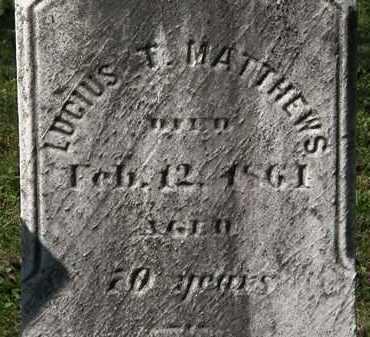 MATTHEWS, LUCIUS T. - Lorain County, Ohio | LUCIUS T. MATTHEWS - Ohio Gravestone Photos