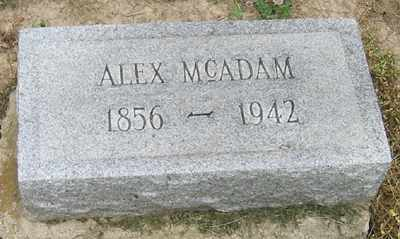 MCADAM, ALEX - Lorain County, Ohio | ALEX MCADAM - Ohio Gravestone Photos
