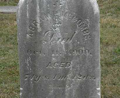 MCCOMBS, ABRAHAM H. - Lorain County, Ohio | ABRAHAM H. MCCOMBS - Ohio Gravestone Photos