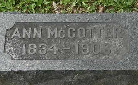 MCCOTTER, ANN - Lorain County, Ohio | ANN MCCOTTER - Ohio Gravestone Photos