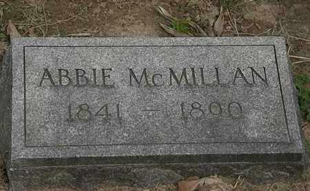 MCMILLAN, ABBIE - Lorain County, Ohio | ABBIE MCMILLAN - Ohio Gravestone Photos