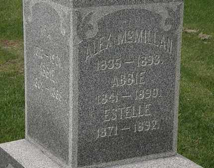 MCMILLAN, ALEX - Lorain County, Ohio | ALEX MCMILLAN - Ohio Gravestone Photos