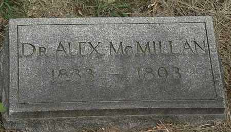 MCMILLAN, DR. ALEX - Lorain County, Ohio | DR. ALEX MCMILLAN - Ohio Gravestone Photos