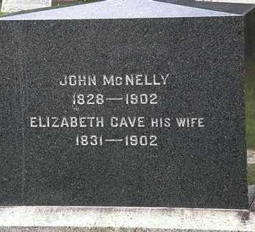 CAVE MCNELLY, ELIZABETH - Lorain County, Ohio | ELIZABETH CAVE MCNELLY - Ohio Gravestone Photos