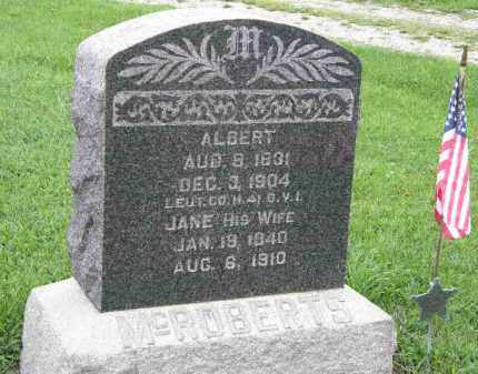 MCROBERTS, ALBERT - Lorain County, Ohio | ALBERT MCROBERTS - Ohio Gravestone Photos