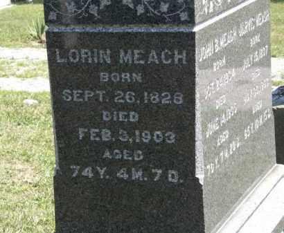 MEACH, LORIN - Lorain County, Ohio | LORIN MEACH - Ohio Gravestone Photos