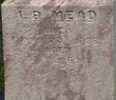 MEAD, I. B. - Lorain County, Ohio | I. B. MEAD - Ohio Gravestone Photos