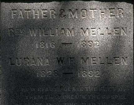 MELLEN, REV. WILLIAM - Lorain County, Ohio | REV. WILLIAM MELLEN - Ohio Gravestone Photos