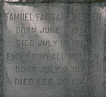 MELLEN, SAMUEL FAIRBANK - Lorain County, Ohio | SAMUEL FAIRBANK MELLEN - Ohio Gravestone Photos