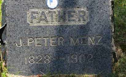 MENZ, J. PETER - Lorain County, Ohio | J. PETER MENZ - Ohio Gravestone Photos