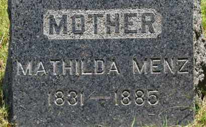 MENZ, MATHILDA - Lorain County, Ohio | MATHILDA MENZ - Ohio Gravestone Photos