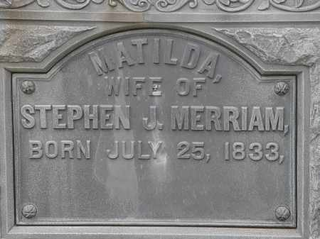 MERRIAM, MATILDA - Lorain County, Ohio | MATILDA MERRIAM - Ohio Gravestone Photos