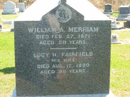 FAIRFIELD MERRIAM, LUCY H. - Lorain County, Ohio | LUCY H. FAIRFIELD MERRIAM - Ohio Gravestone Photos