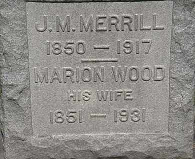 WOOD MERRILL, MARION - Lorain County, Ohio | MARION WOOD MERRILL - Ohio Gravestone Photos