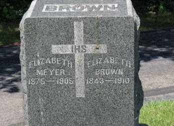 BROWN, ELIZABETH - Lorain County, Ohio | ELIZABETH BROWN - Ohio Gravestone Photos