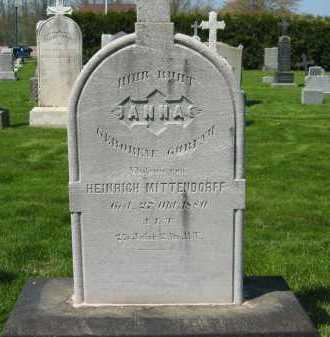 MITTENDORFF, HEINRICH - Lorain County, Ohio | HEINRICH MITTENDORFF - Ohio Gravestone Photos